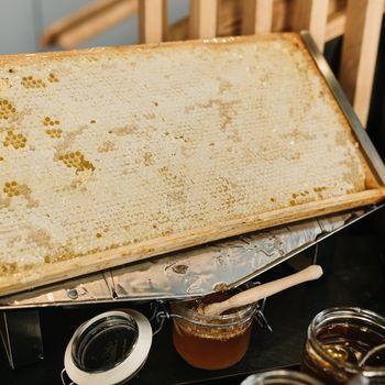 Frühstück Honigwabe Hotel Rossi Gesund