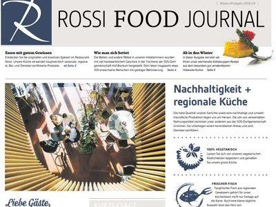 Hotel Restaurant Rossi Food Journal Speisekarte